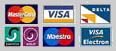 All these credit cards are accepted