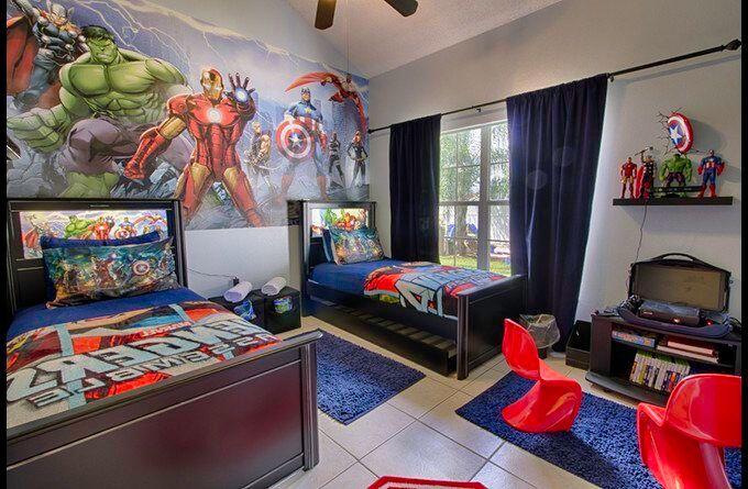 marvel themed room